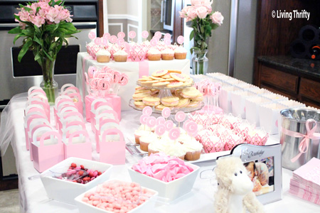 Sweet Buffet for 1st Birthday Party
