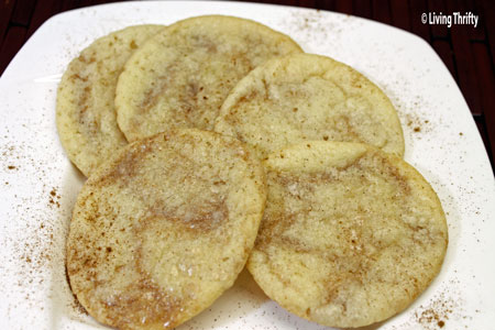Recipe for cinnamon and sugar cookies
