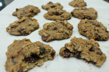 Healthy Chocolate Peanut Butter Banana Cookies