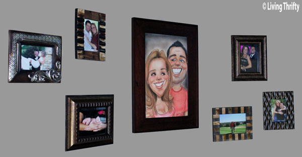 Framed Wall of Pictures to fill those nooks