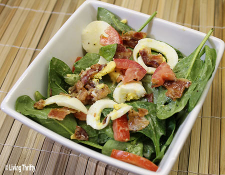 Bacon Spinach Side Salad