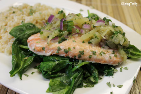Pineapple Salsa Salmon
