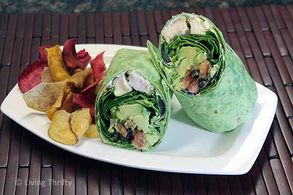 Healthy Spinach Chicken Wraps