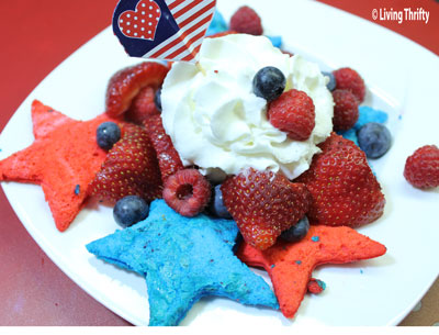 Angel Food Cake for The 4th of July